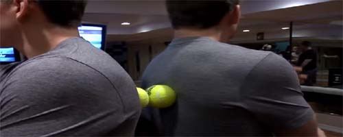 How to use tennis ball for back pain